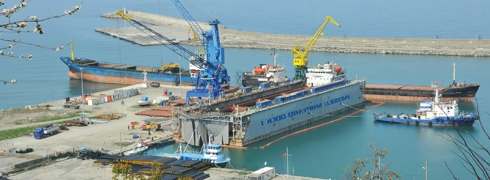 THE ONLY SHIPYARD WITH FLOATING DOCK AT THE BLACK SEA COAST IN TURKEY